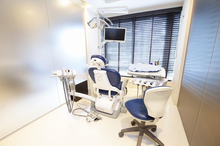 プライバシーに配慮された完全個室の診療室